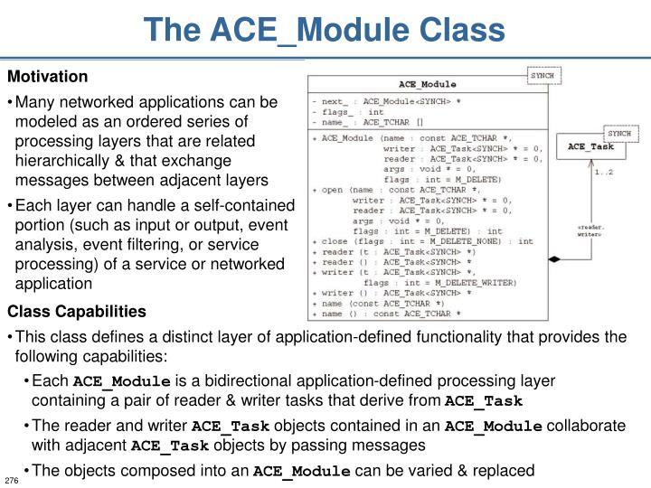The ACE_Module Class