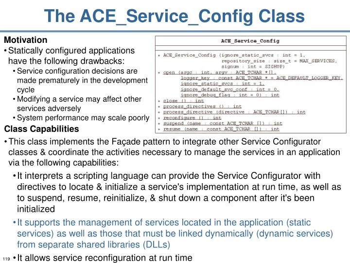 The ACE_Service_Config Class