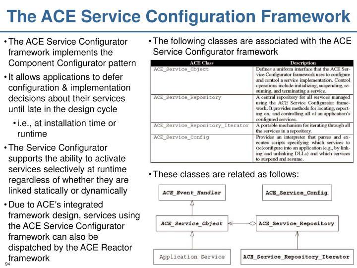 The ACE Service Configuration Framework