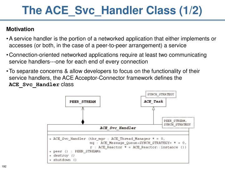 The ACE_Svc_Handler Class (1/2)