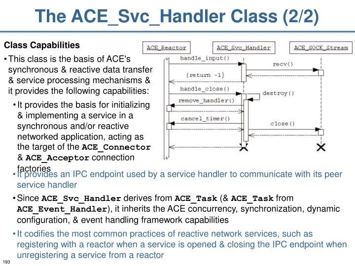 The ACE_Svc_Handler Class (2/2)