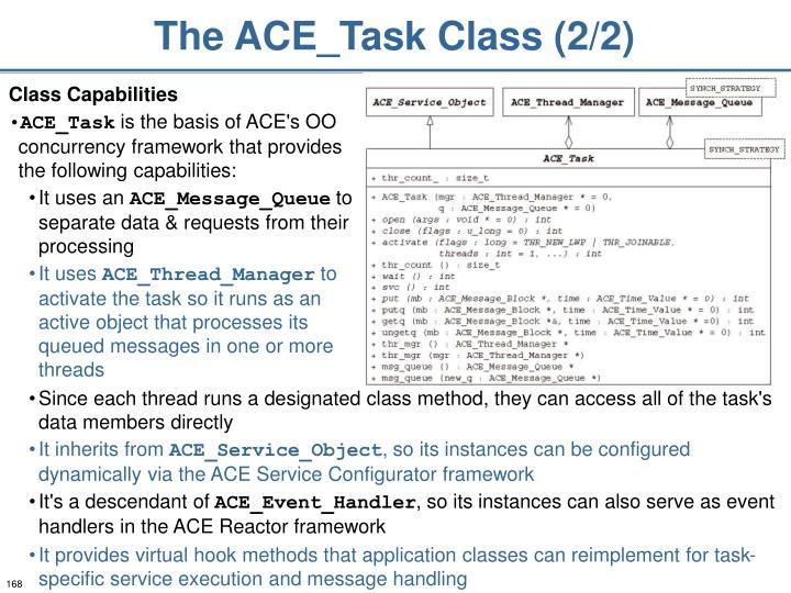 The ACE_Task Class (2/2)