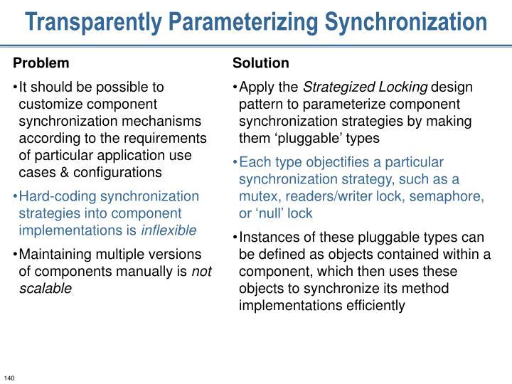 Transparently Parameterizing Synchronization