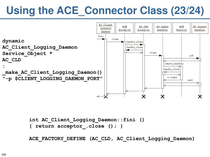 Using the ACE_Connector Class (23/24)