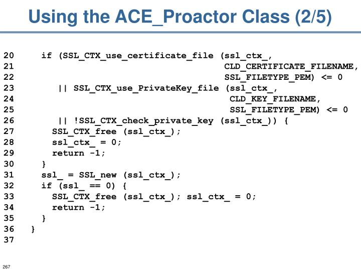 Using the ACE_Proactor Class (2/5)