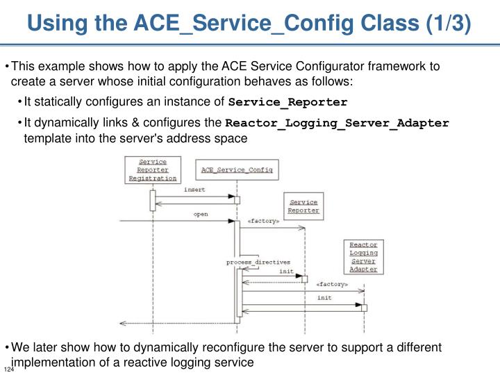 Using the ACE_Service_Config Class (1/3)