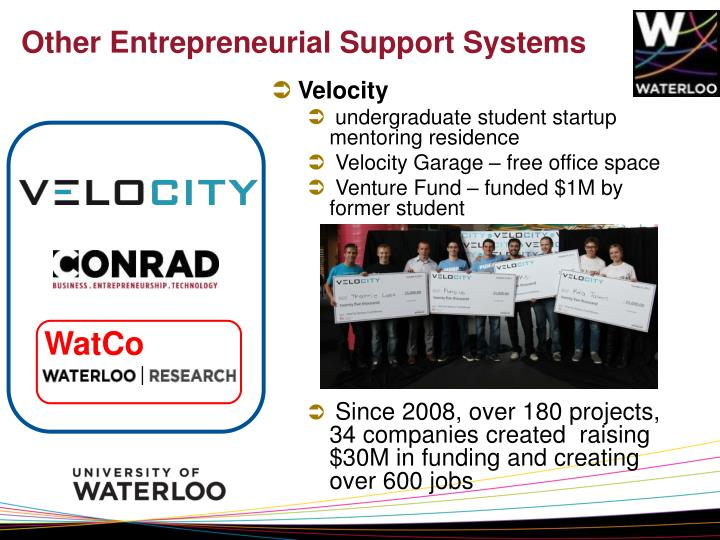 Other Entrepreneurial Support Systems