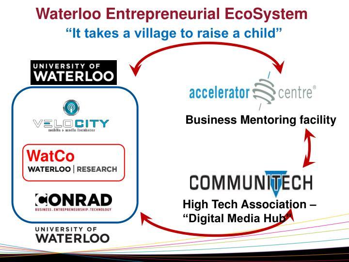 Waterloo Entrepreneurial EcoSystem