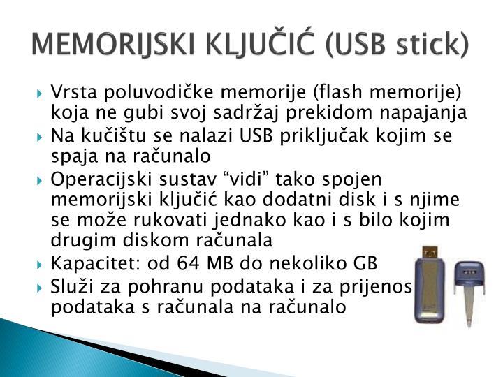 MEMORIJSKI KLJUČIĆ (USB stick)