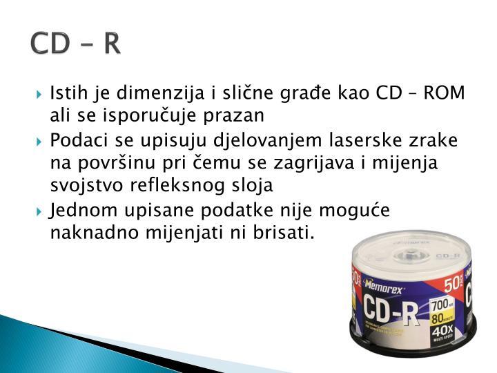 CD – R