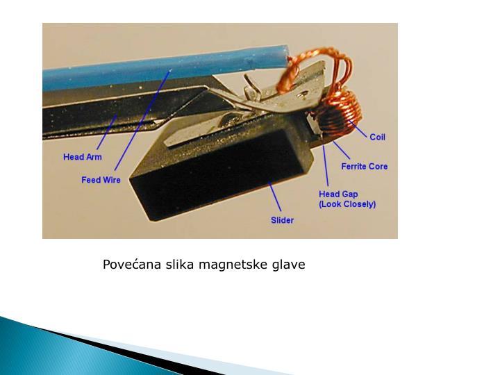 Povećana slika magnetske glave