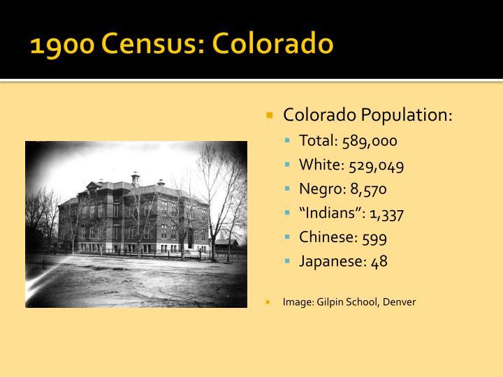 1900 Census: Colorado