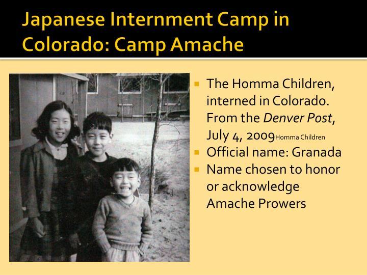 Japanese Internment Camp in Colorado: Camp