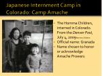 japanese internment camp in colorado camp amache