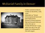 mcdaniel family in denver