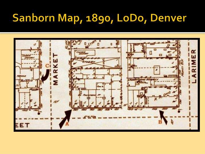 Sanborn Map, 1890,