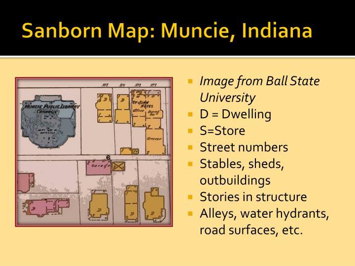Sanborn Map: Muncie, Indiana