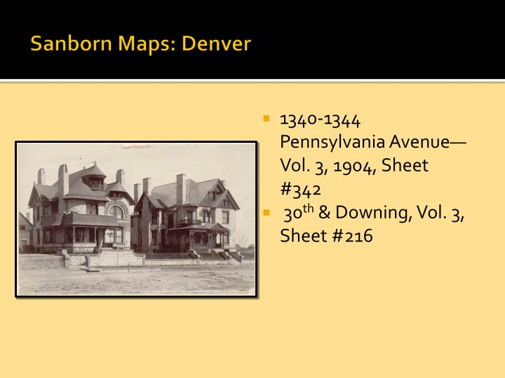 Sanborn Maps: Denver