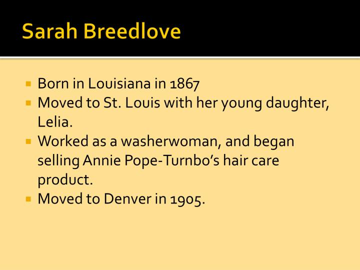 Sarah Breedlove