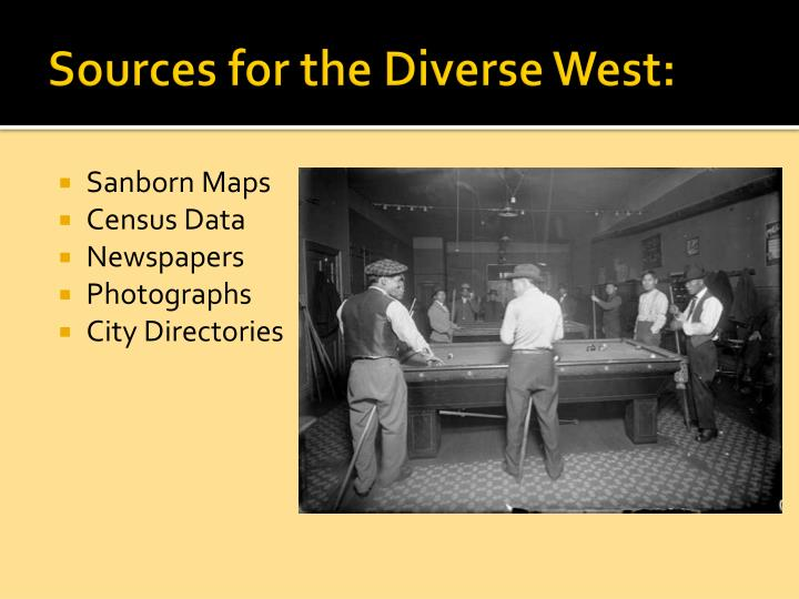 Sources for the Diverse West: