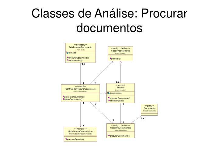 Classes de Análise: Procurar documentos