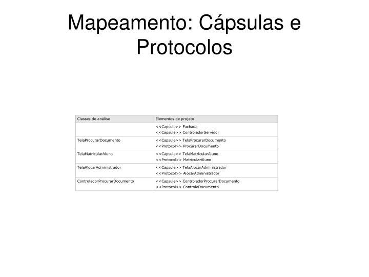 Mapeamento: Cápsulas e Protocolos