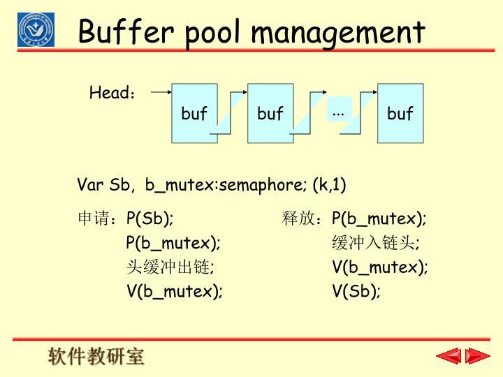 Buffer pool management