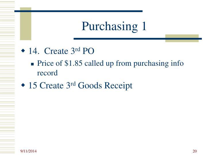 Purchasing 1
