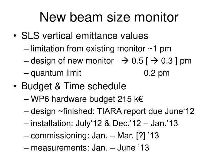 New beam size monitor