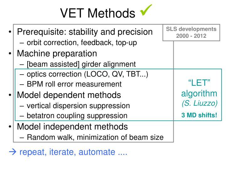 VET Methods