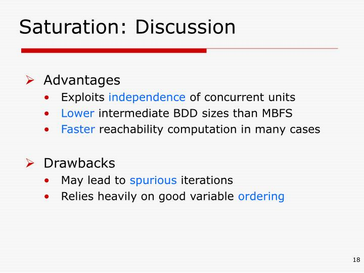 Saturation: Discussion