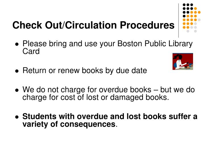 Check Out/Circulation Procedures