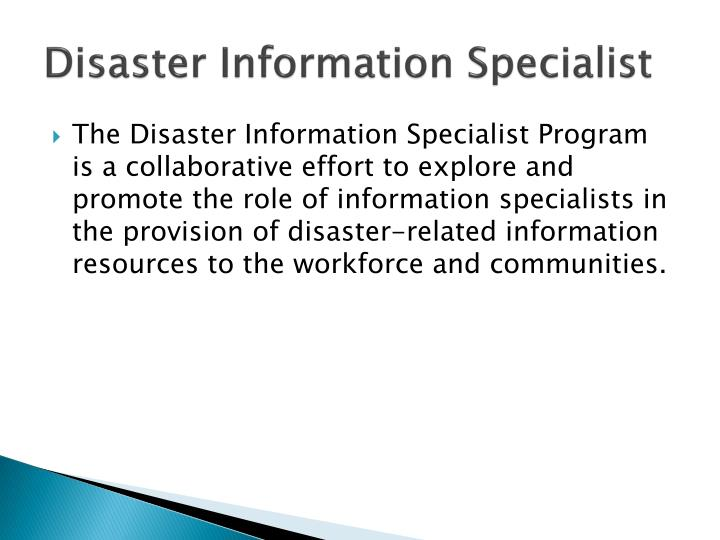Disaster Information Specialist