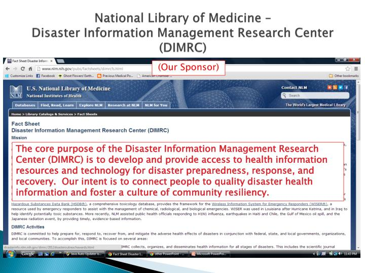National Library of Medicine –