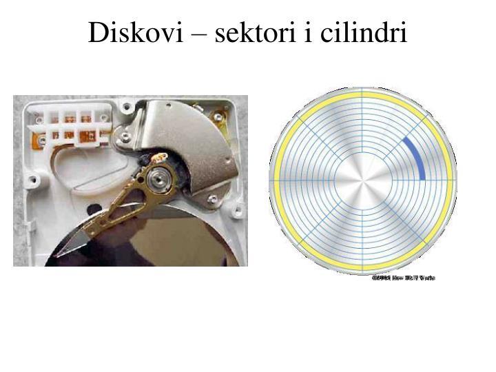 Diskovi – sektori i cilindri