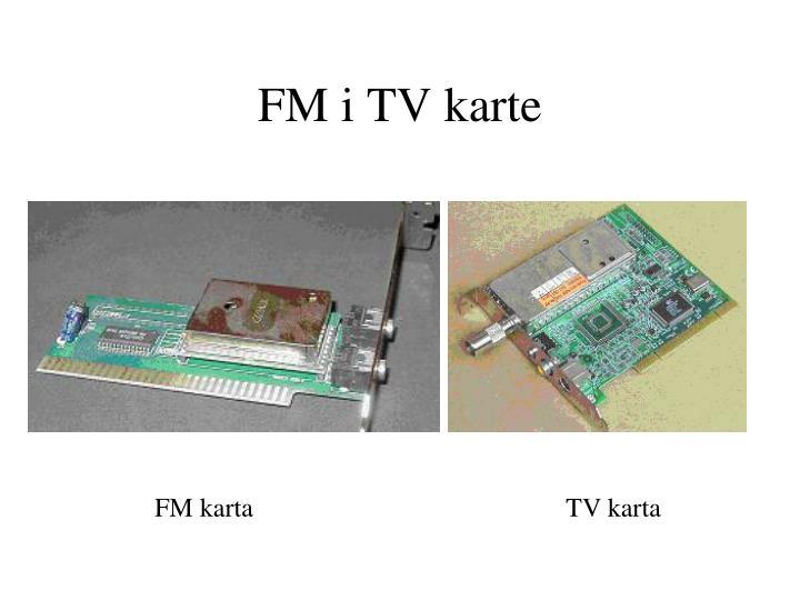 FM i TV karte