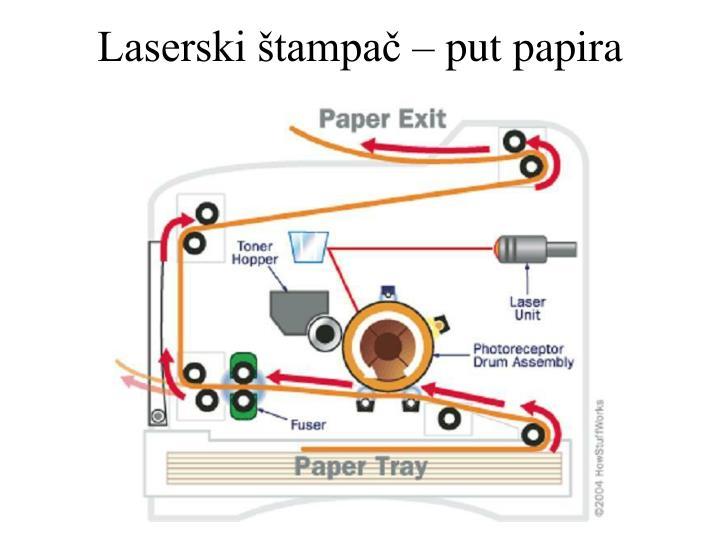 Laserski štampač – put papira