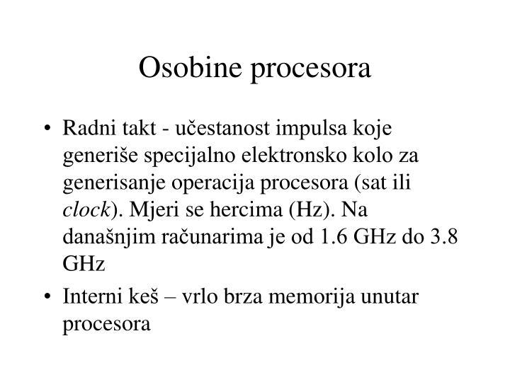 Osobine procesora