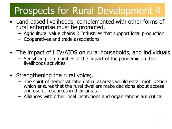 Prospects for Rural Development 4