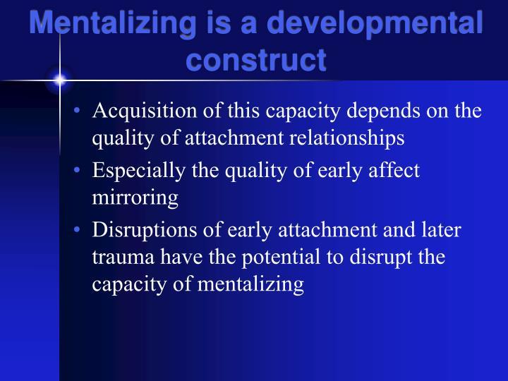 Mentalizing