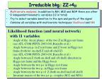 irreducible bkg zz 4 m