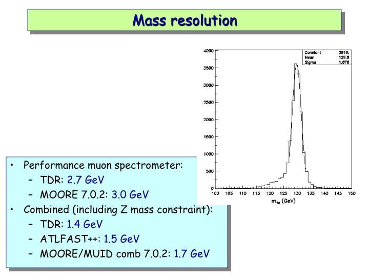 Mass resolution