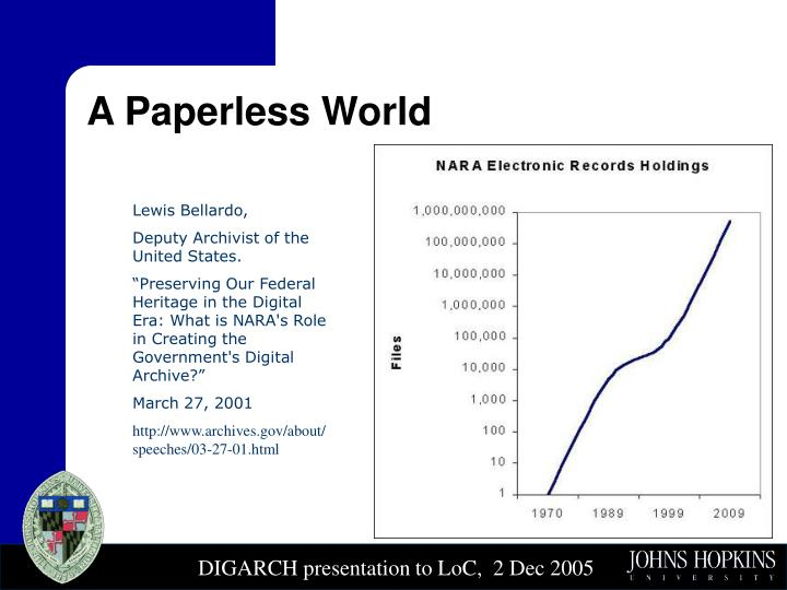 A Paperless World