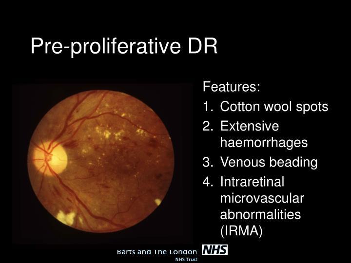 Pre-proliferative DR