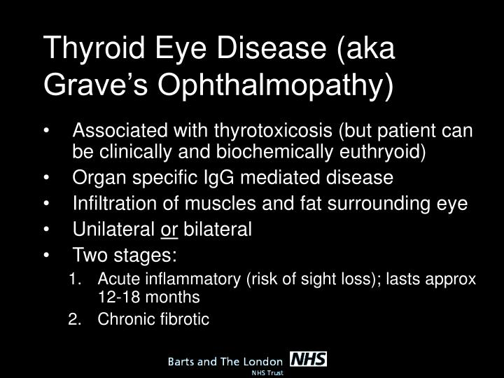 Thyroid Eye Disease (aka Grave's Ophthalmopathy)