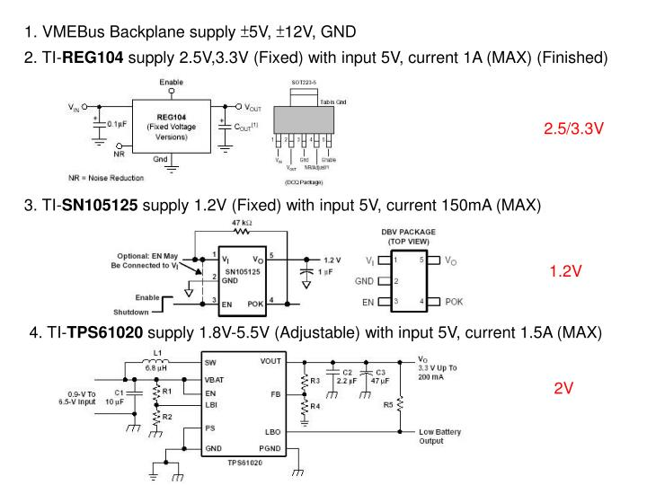 1. VMEBus Backplane supply