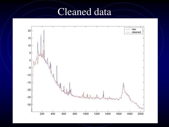 Cleaned data
