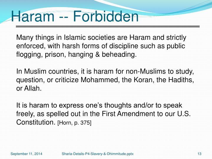 Haram -- Forbidden
