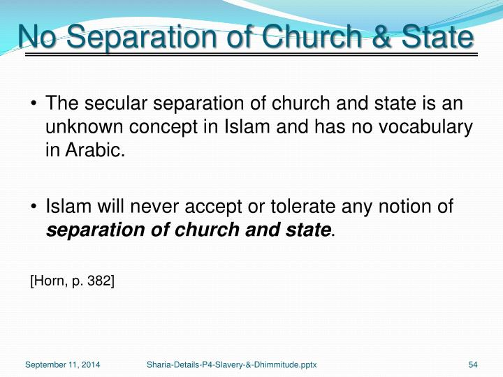 No Separation of Church & State
