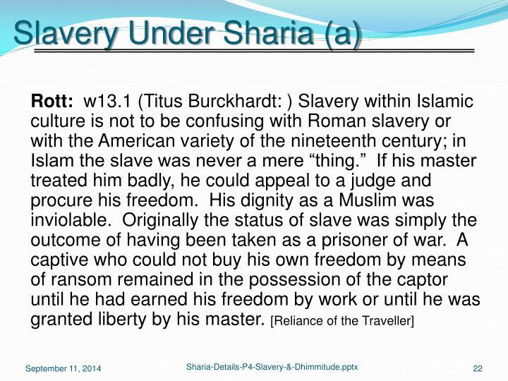 Slavery Under